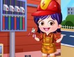 Hazel Bebek Elektrikçi Kıyafetleri Oyna
